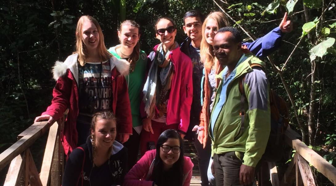 A group of teenage volunteers explore Madagascar during their conservation project with Projects Abroad.